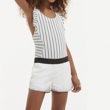 Striped 1-piece bathing suit KARL LAGERFELD KIDS for GIRL