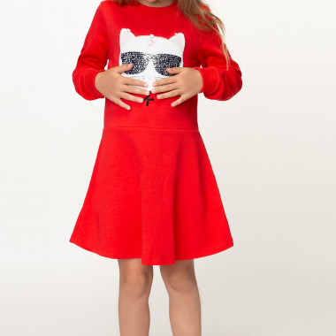 Magical sequin dress KARL LAGERFELD KIDS for GIRL