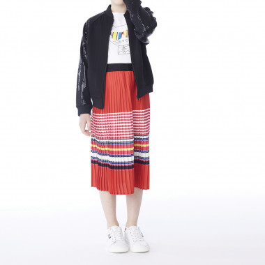 Striped skirt with pleats KARL LAGERFELD KIDS for GIRL