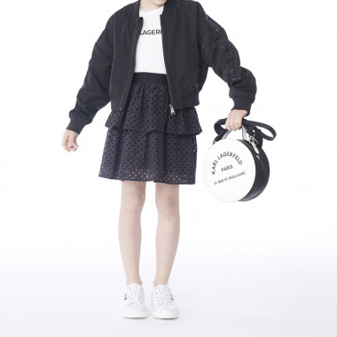 Frilled cotton skirt KARL LAGERFELD KIDS for GIRL