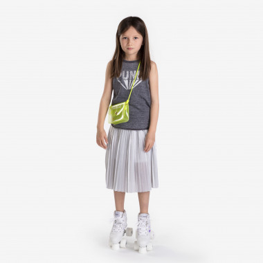Pleated knit skirt with lining KARL LAGERFELD KIDS for GIRL