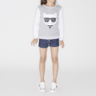 Denim shorts KARL LAGERFELD KIDS for GIRL