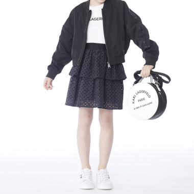 Coated bomber jacket KARL LAGERFELD KIDS for GIRL