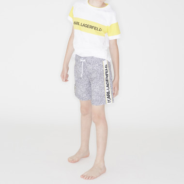 Striped swimming trunks KARL LAGERFELD KIDS for BOY