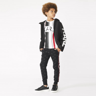 Jogging trousers with tricot stripes KARL LAGERFELD KIDS for BOY