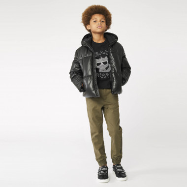 Cotton twill trousers KARL LAGERFELD KIDS for BOY