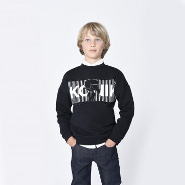 Cotton-rich sweatshirt KARL LAGERFELD KIDS for BOY