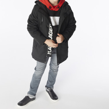 Long hooded parka KARL LAGERFELD KIDS for BOY