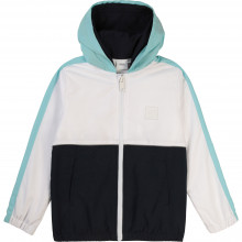 Hooded jogging cardigan