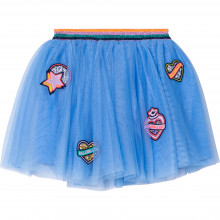 Tulle patched-motif skirt