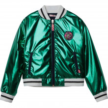 Metallic padded bomber jacket