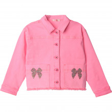 Sequined cotton drill jacket