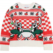 Jacquard jumper with christmas motif
