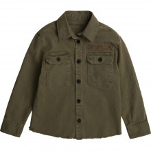 Embroidered cotton overshirt