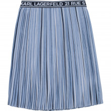 Cotton-blend pleated skirt