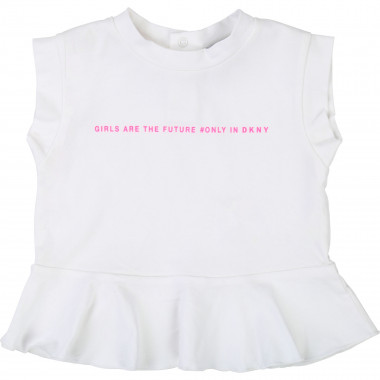 Printed T-shirt with frill DKNY for GIRL