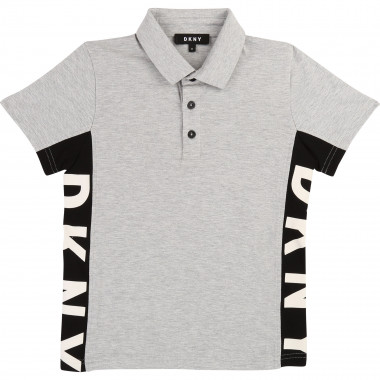 Ribbed cotton piqué polo shirt DKNY for BOY
