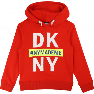 Fleece hooded jumper DKNY for BOY