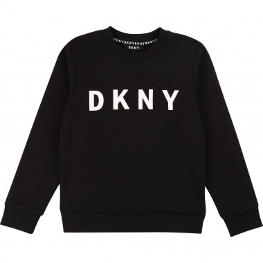 Plain logo-print sweatshirt DKNY for BOY
