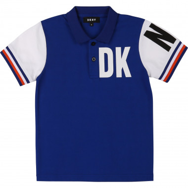 Cotton piqué polo shirt DKNY for BOY