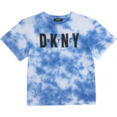 Tie-dyed cotton T-shirt DKNY for BOY