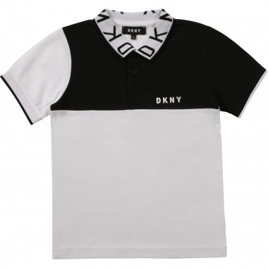 Technical piqué polo shirt DKNY for BOY