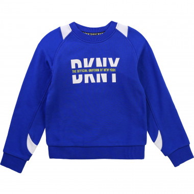 Cotton fleece sweatshirt DKNY for BOY