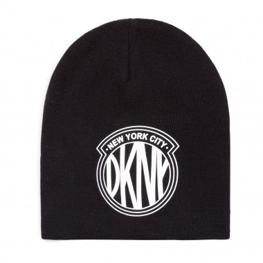 Knitted hat in 1x1 rib DKNY for GIRL