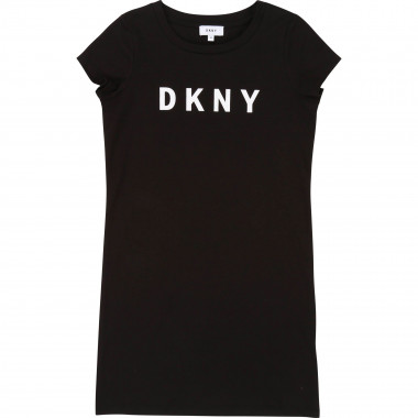 Short-sleeved logo dress DKNY for GIRL