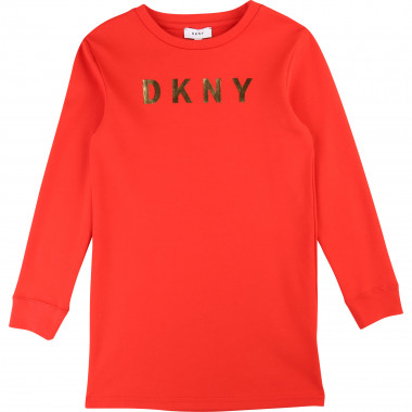 Stretch cotton dress DKNY for GIRL