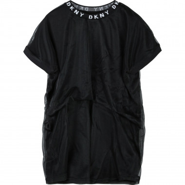 Logo collar mesh dress DKNY for GIRL