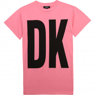 Organic cotton logo dress DKNY for GIRL