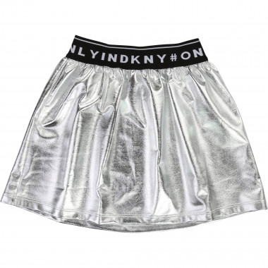 Silver skirt with waist logo DKNY for GIRL