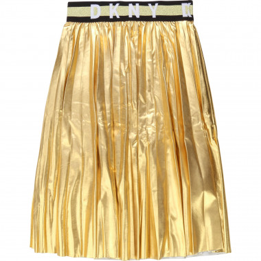 Gold pleated maxi skirt DKNY for GIRL
