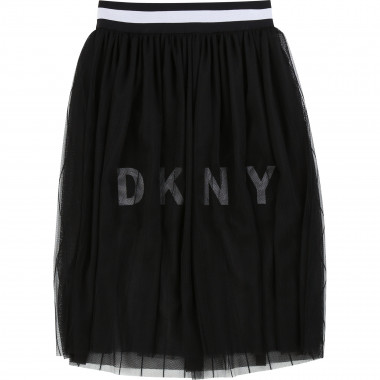Gathered skirt in striped mesh DKNY for GIRL