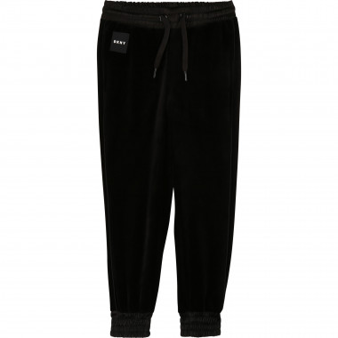 Velvet jogging trousers DKNY for GIRL