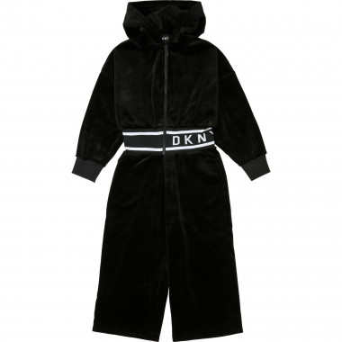 Hooded velvet romper DKNY for GIRL