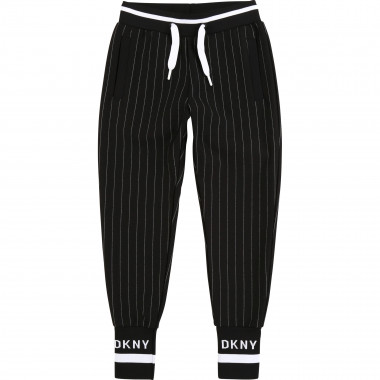 Striped milano knit trousers DKNY for GIRL