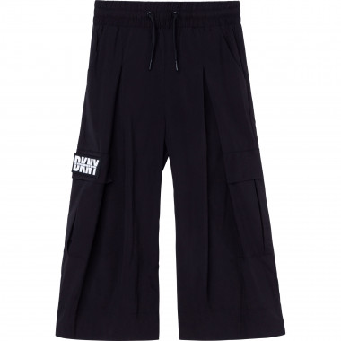 Wide leg trousers with badge DKNY for GIRL