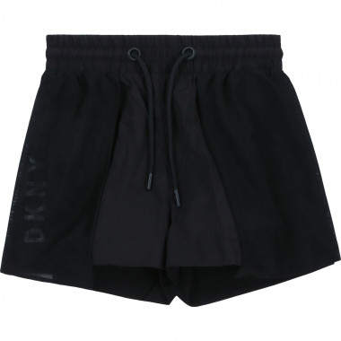 Novelty shorts with mesh DKNY for GIRL