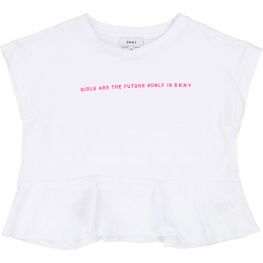 Cropped jersey T-shirt DKNY for GIRL
