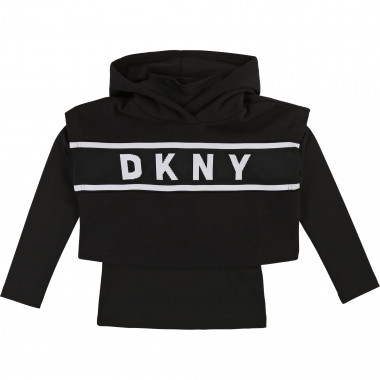 2-in-1  hooded sweatshirt DKNY for GIRL