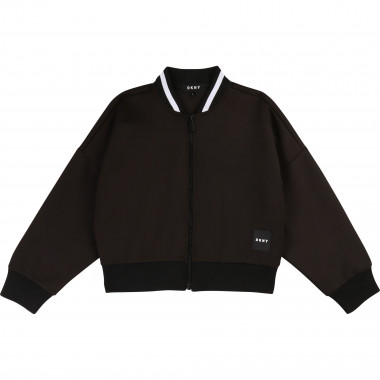 Fleece letter jacket DKNY for GIRL