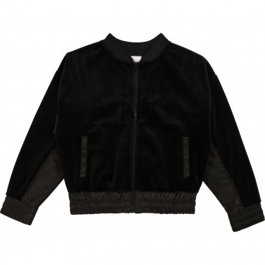 Velvet and satin varsity jacket DKNY for GIRL