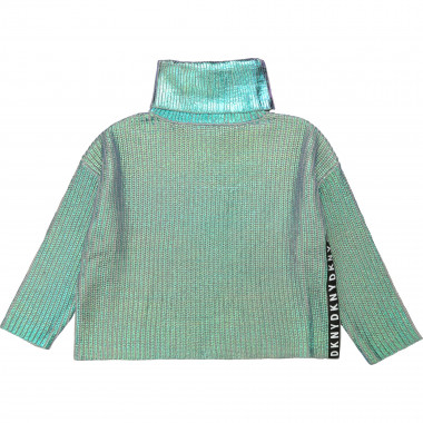 Cotton blend turtleneck jumper DKNY for GIRL