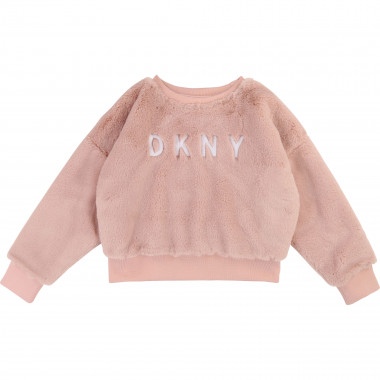 Faux-fur sweatshirt DKNY for GIRL