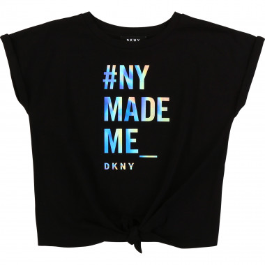 T-shirt with multicolour print DKNY for GIRL
