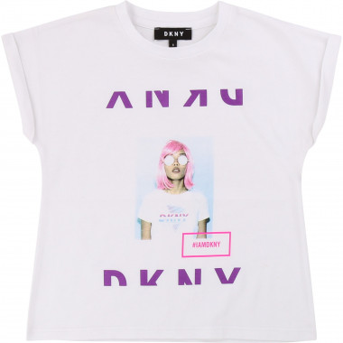 Printed cotton T-shirt DKNY for GIRL