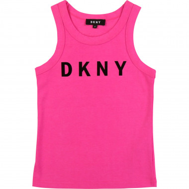 Round-necked logo vest top DKNY for GIRL