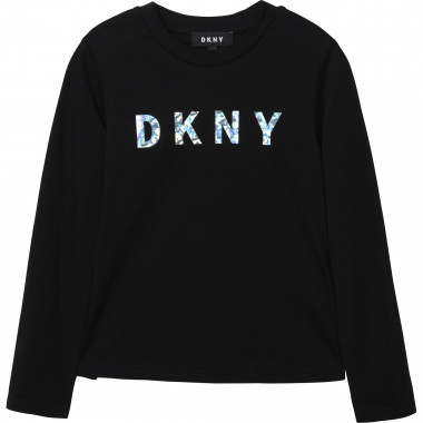 Cotton jersey T-shirt DKNY for GIRL